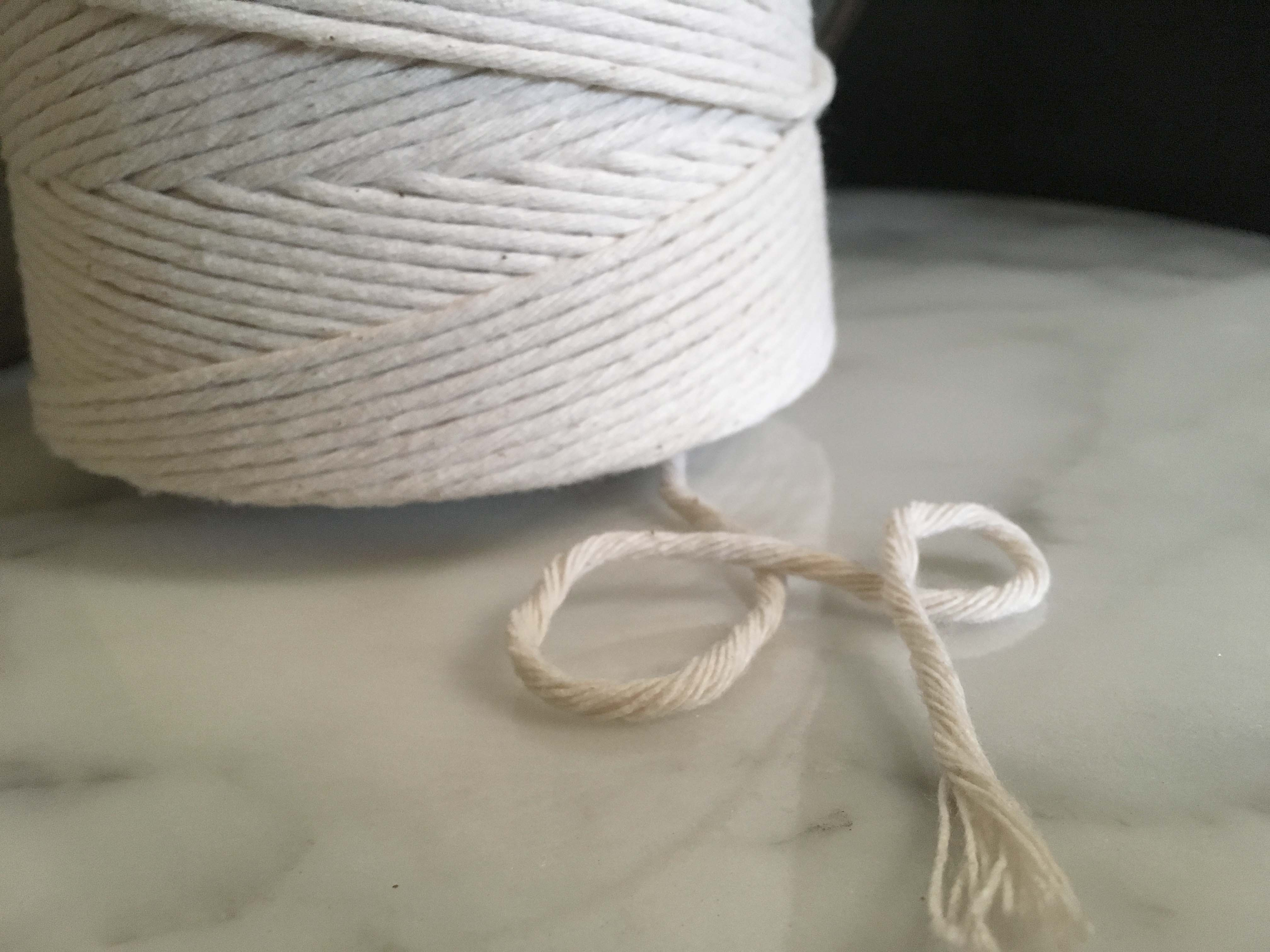 ecru macrame cord fiber art rope  cotton rmc