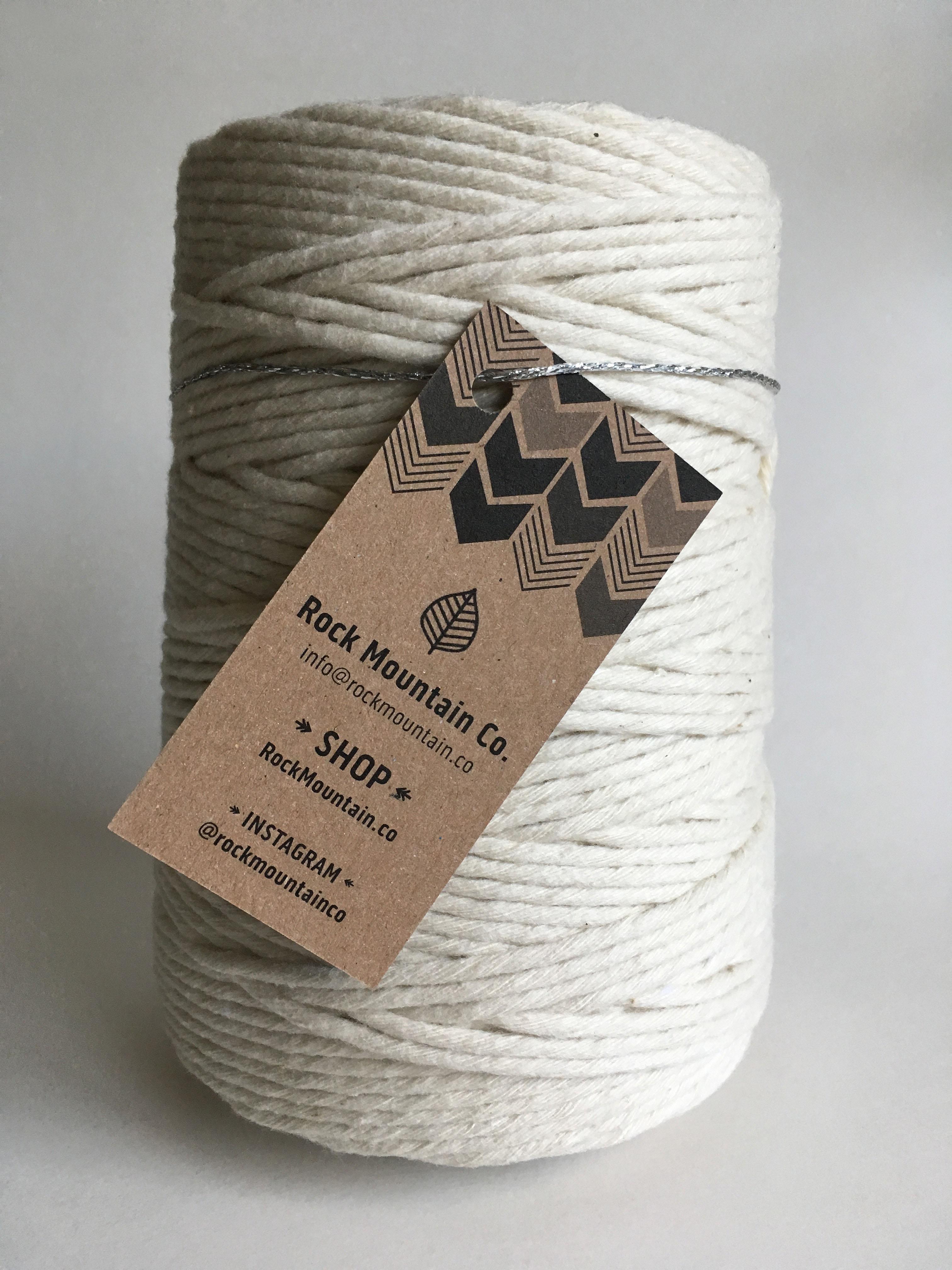 Ecru Macrame Cord Fiber Art Rope 100 Cotton Rmc