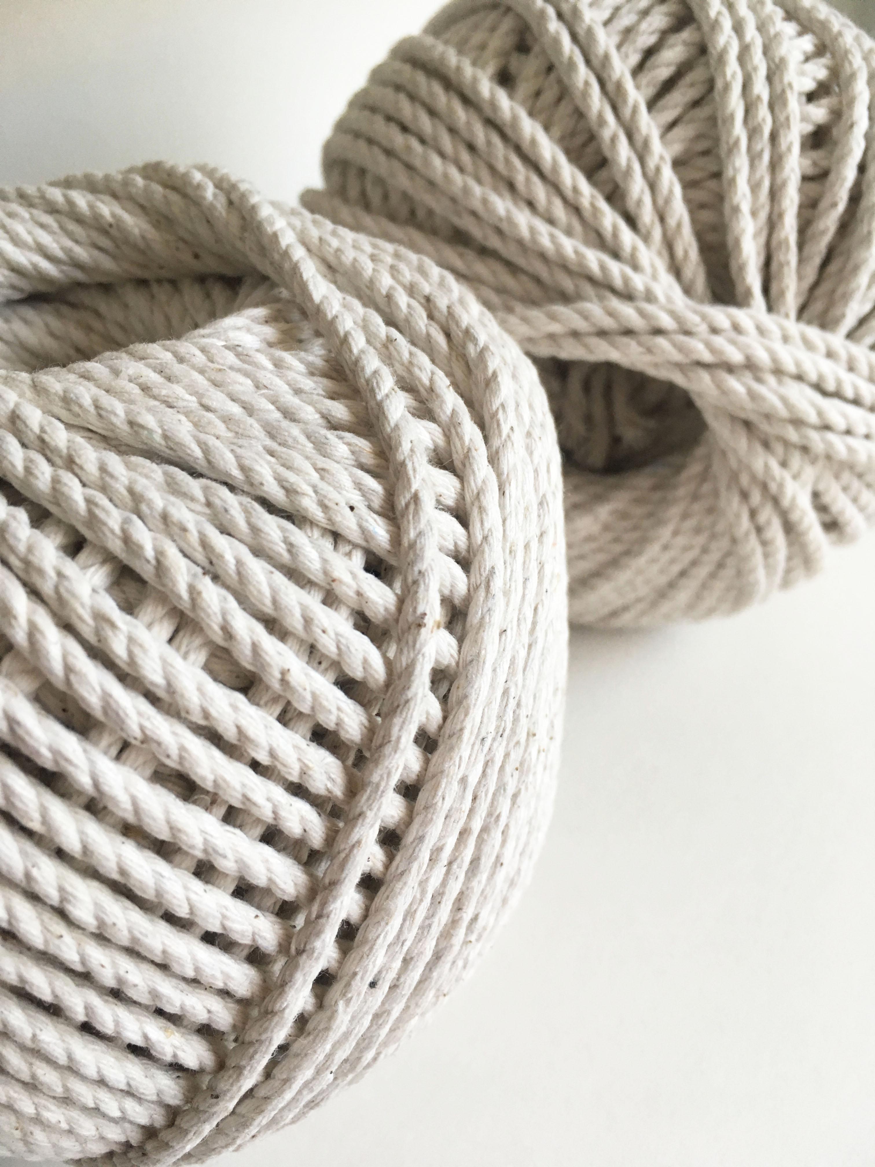 3ply macrame rope fiber art cord 100 cotton rmc. Black Bedroom Furniture Sets. Home Design Ideas