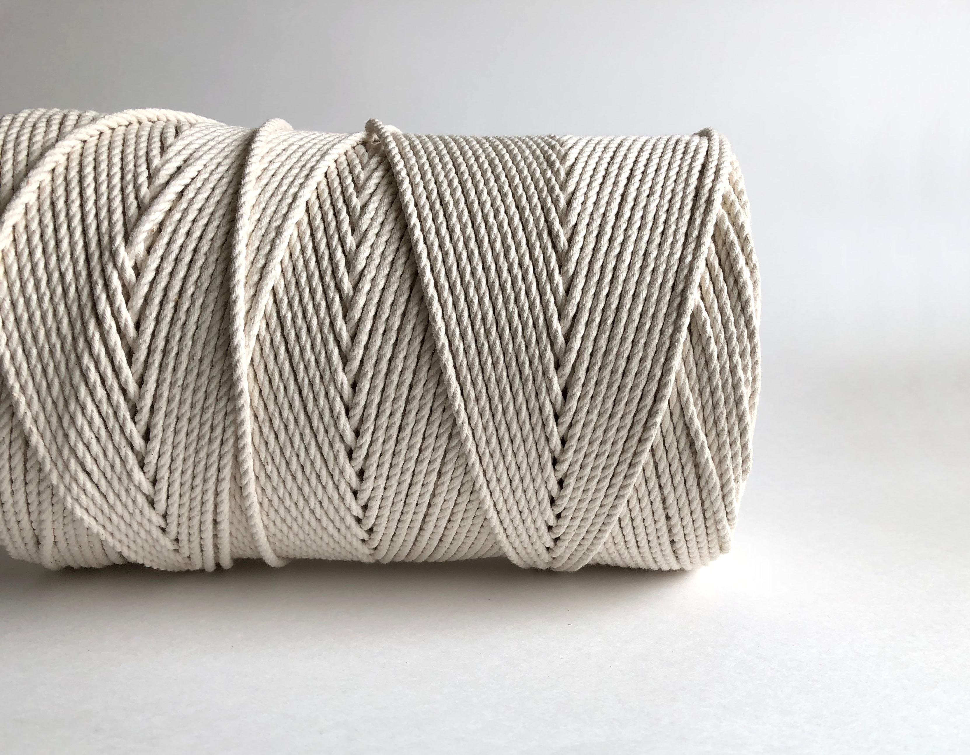 3 Strand Macrame Rope Fiber Art Cord 100 Cotton Rmc